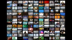 multimedia multiscreen HD videowall - stock footage