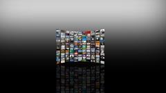 multimedia multiscreen HD videowall - stock footage