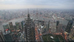 Aerial view of Shanghai Stock Footage