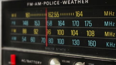 Great retro radio dial with police band Stock Footage