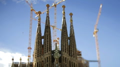 Sagrada familia gaudi barcelona church Stock Footage