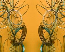 Slinky yellow Stock Footage