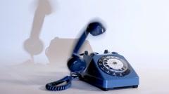 Old style telephone ringing Stock Footage