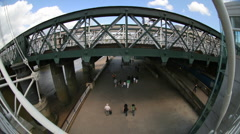 London southbank fisheye Stock Footage