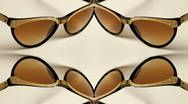 Stock Video Footage of sunglasses retro collection vintage style abstract