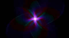 Abstract whirl star flower pattern background,light space windmill energy. Stock Footage