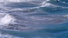 Stormy waves sea water Stock Footage