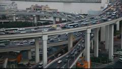 Traffic in Shanghai - stock footage