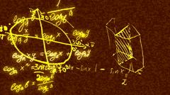 Trigonometric formulas 1 Stock Footage