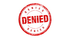 DENIED stamp Stock Footage