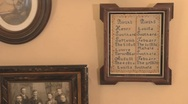 Vintage photos on a wall Stock Footage