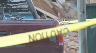 Stock Video Footage of Caution at disaster, crime or job site