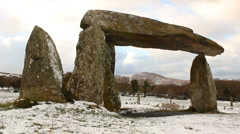 Pentre Ifan Dolmen, Wales, UK Stock Footage