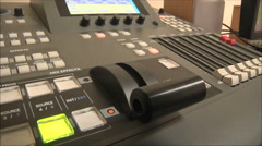 Switching audio panel Stock Footage