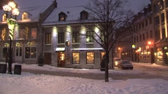 Street Corner Old Montreal   - stock footage