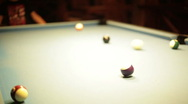 Playing billard blurred Stock Footage