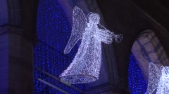 Notre Dame Basilica Angels at Night Stock Footage