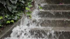 Staris Flooding Stock Footage