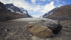 Athabasca Glacier in the Columbia Icefield in Jasper National Park, Time Lapse Stock Footage