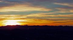 las vegas hard sunrise time lapse - stock footage