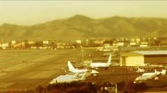 Las Vegas-tarmac and takeoff - stock footage