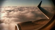 Stock Video Footage of Airline-wing-clouds