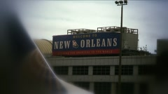 Airline-welcome new orleans Stock Footage
