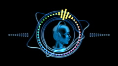 Hi-tech Music Head and Graphic Equalizer - Equalizer 72 (HD) Stock Footage