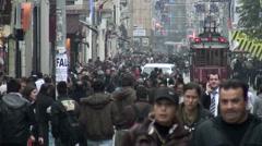 İstiklal Avenue Istanbul Stock Footage