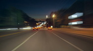 Stock Video Footage of streaking traffic POV