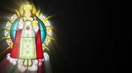 Stock Video Footage of Stained glass with Jesuschild (Seamless Loop)