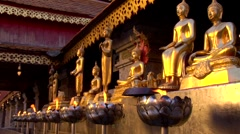 Lamps and Buddhas Stock Footage