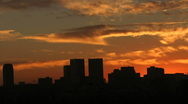 Stock Video Footage of Skyline Sunset
