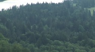 Stock Video Footage of Hohenschwangau Castle (high angle w/pan left)