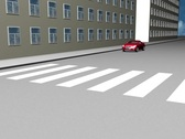 Road situation 3D Stock Footage
