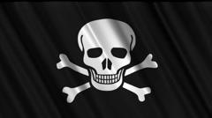 Pirate Flag Loop 01 Stock Footage