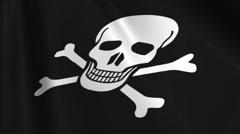 Pirate Flag Loop 03 Stock Footage
