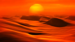 Desert Dunes (Loop) - stock footage