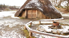 Iron age village in Wales, UK Stock Footage