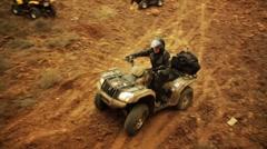 ATV motorcycle riding Stock Footage
