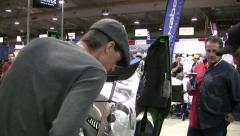 Snowmobile Expo 3 Stock Footage