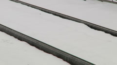 Rail road under snow storm-Liberta0018 Stock Footage