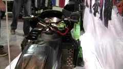 Snowmobile Expo 8 Stock Footage