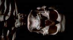Real human skeleton spooky lighting Stock Footage