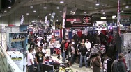 Snowmobile Expo 21 Stock Footage