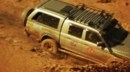 Stock Video Footage of Off-road vehicle on dirty race