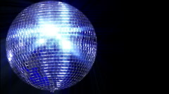 Disco mirror ball left wide loop Stock Footage