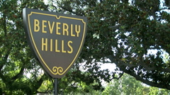 beverly hills sign 90210 - stock footage