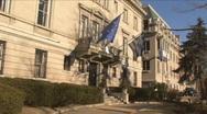 Greek Embassy Stock Footage