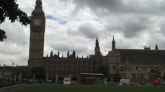 Parliament Square in London Stock Footage